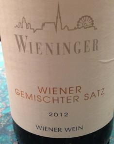 2012 Wieninger Wiener Gemischter Satz