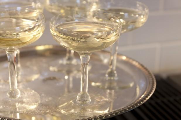 champagne glasses letting the wine speak
